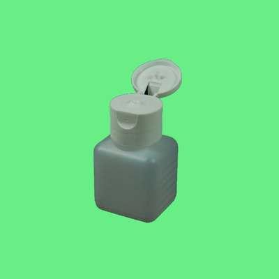 Flasche, Kunststoff- vierkant m. Klappverschl. 50ml