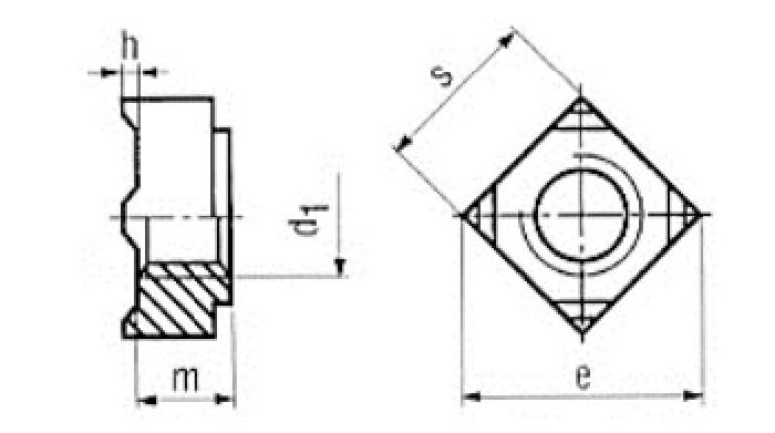 Vierkant-Schweissmutter, M12, Güte 10 DIN 928 Stahl, 1 Stk.