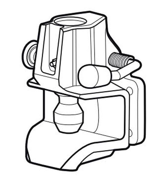 Maulkupplung Rockinger 120x 55mm, 50 kN, f. Oese 40mm, 30,6 mm Bolzen