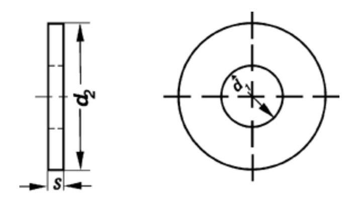 Paßscheiben, Durchmesser 12x18x0,5 mm, 1 Stk.