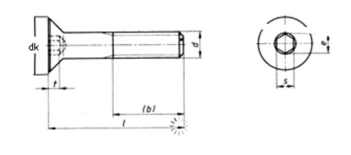 Innensechskantschraube M8x30, Senkkopf, V2A, 1 Stk.