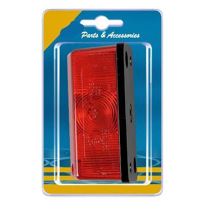 Begrenzungsleuchte rot/weiß 91x41mm