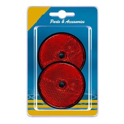 Rückstrahler rund 60 mm, zum Schrauben, rot, (20 Stk.)