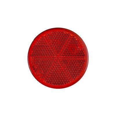 Rückstrahler rund 60 mm, zum Kleben, rot (500er Pack)