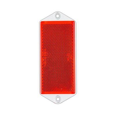 Rückstrahler, eckig, 90x 40mm, zum Schrauben, rot