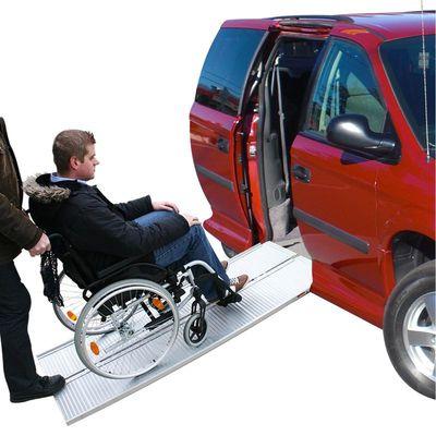 Auffahrrampe, Auffahrschiene Aluminium klappbar für Rollstuhl 122x73cm 270kg