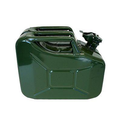 Benzinkanister 10L Metall grün UN-& TüV GS-geprüft (5er Pack)