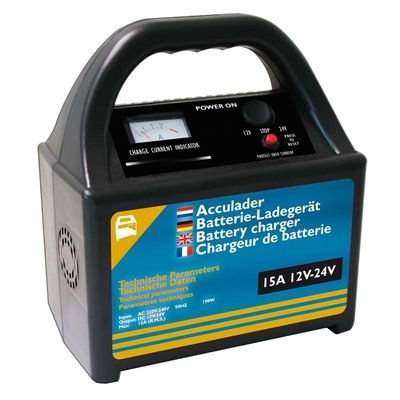 Batterie Ladegerät 12V/24V 15Amp. (4er Pack)