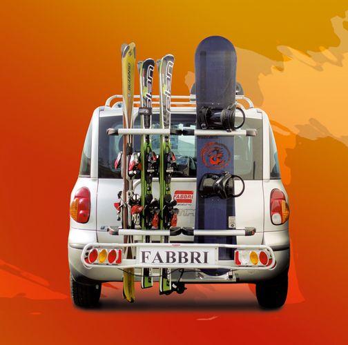 Erweiterung Ski und Board für Fahrradträger Fabbri Exclusiv Deluxe