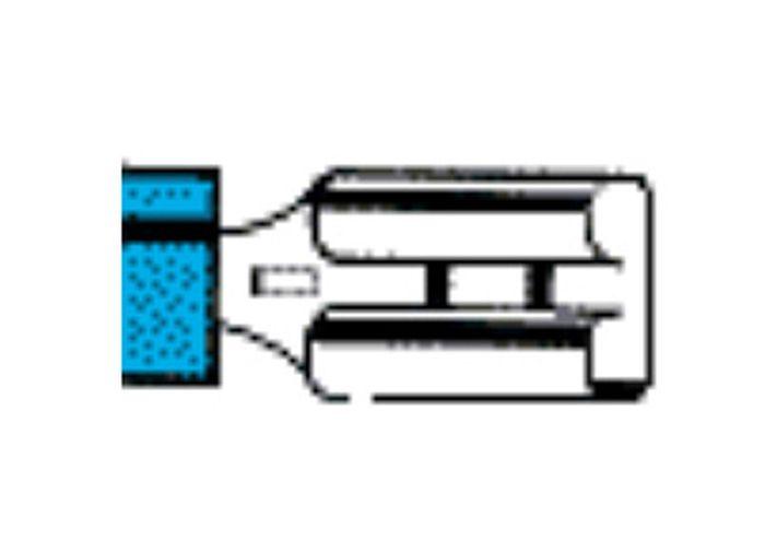 Flachsteckhülse, 2,8mm, isoliert, Lieferumfang 1 Stk.