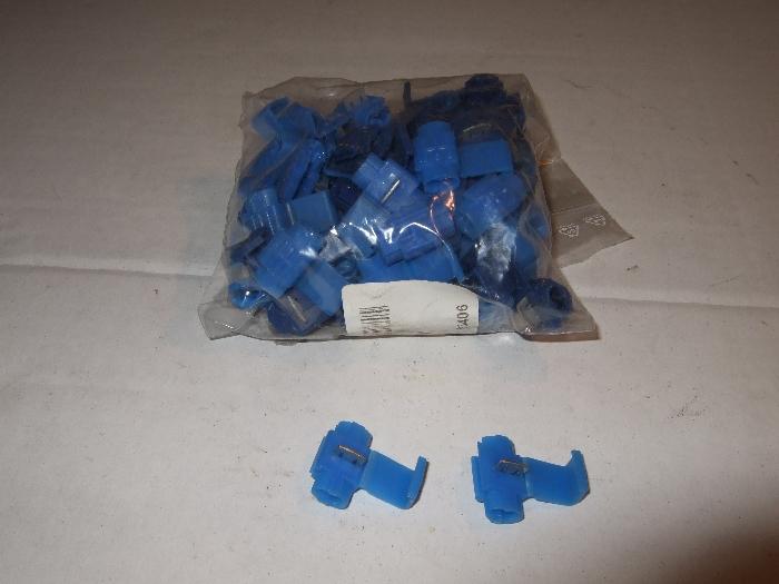 Abzweigverbinder, blau, Lieferumfang (100 Stk.)