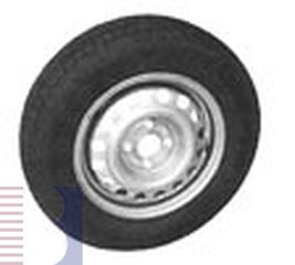Reifen- f. PKW-Anhänger, m. Felge, 175/70R13, Lochkreis 112x5