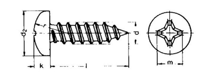 Knippingschraube, Blechschraube, 2,8x19, schwarz, 1 Stk.