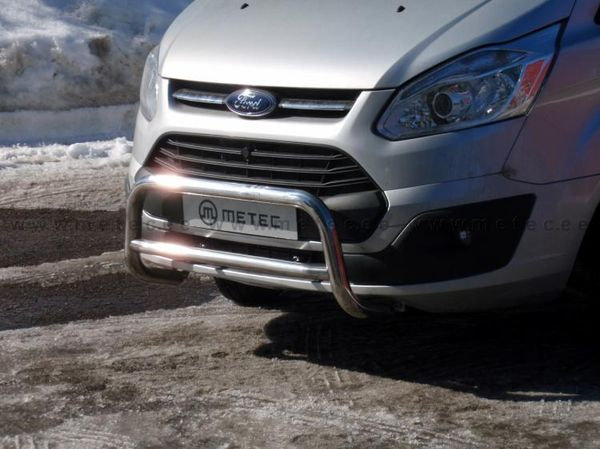 Frontschutzbügel Kuhfänger Bullfänger Ford Transit Custom 2013-2018, EuroBar 60mm Edelstahl
