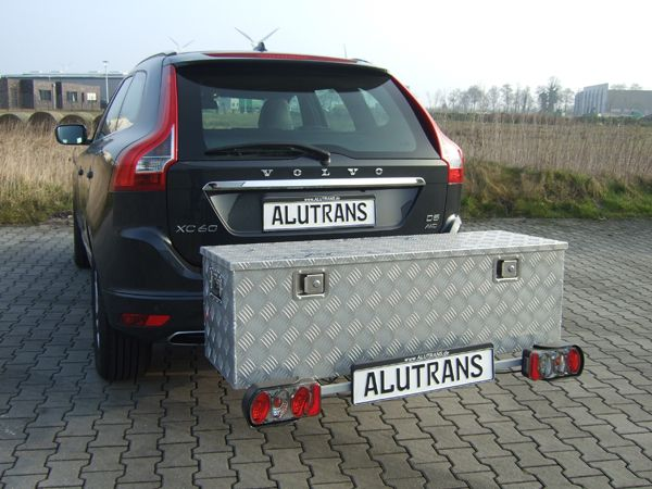 ALUTRANS Heckträger mit ALU Box ca. 1240 x 400 x H380 für d. Anhängerkupplung AHK Lastenträger