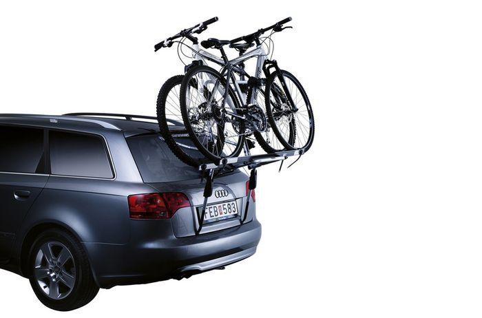 Toyota Yaris, 3/5-T Fließheck Bj. 2005-2011, Thule Fahrradträger f. 2 Fahrräder für Heckträger für Toyota Toyota Yaris, 3/5-T Fließheck Bj. 2005-2011 Heckträger als 2er Fahrradträger