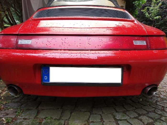 Anhängerkupplung für Porsche-911 (993) 993,  nur für Heckträgerbetrieb, Sonderanfertigung, Montage nur bei uns im Haus, Baureihe 1993-1998  vertikal