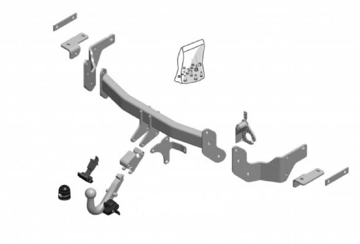 Anhängelast erhöhen Kia Sorento, Typ XM Facelift, 12. 2012-08.2014 (horizontal abnehmbare AHK incl. Gutachten)