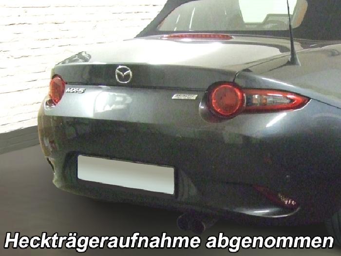 Anhängerkupplung Mazda MX 5, ND Heckträgeraufnahme, nur für Heckträgerbetrieb, Montage nur bei uns im Haus, Baureihe 2015-  vertikal