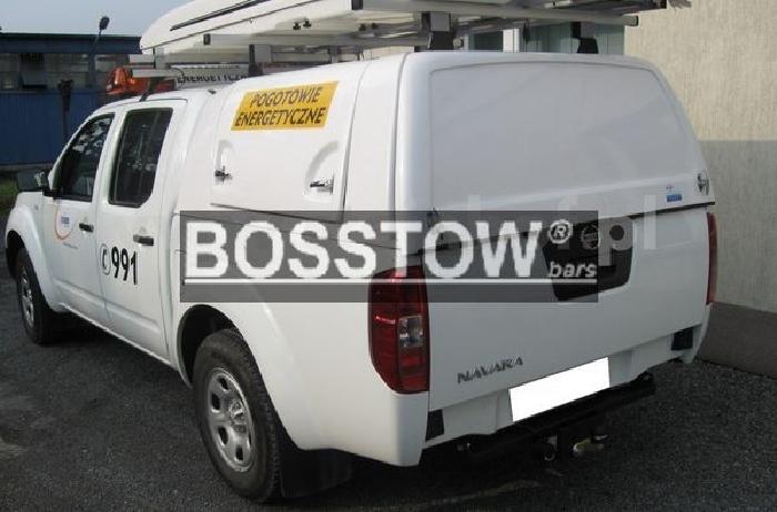 Anhängerkupplung Nissan-Pick-Up NP300 D22 mit Trittstoßstange, Baureihe 2005-2010 Ausf.:  feststehend