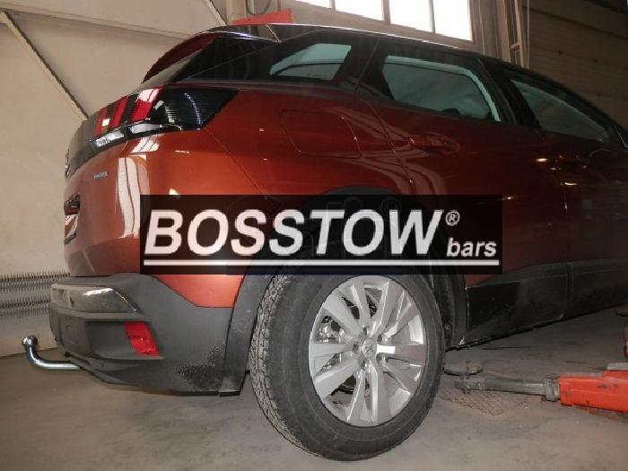 Anhängerkupplung Peugeot-3008 spez. GT-Line, mit Esatz Vorbereitung, Baureihe 2016- Ausf.:  feststehend
