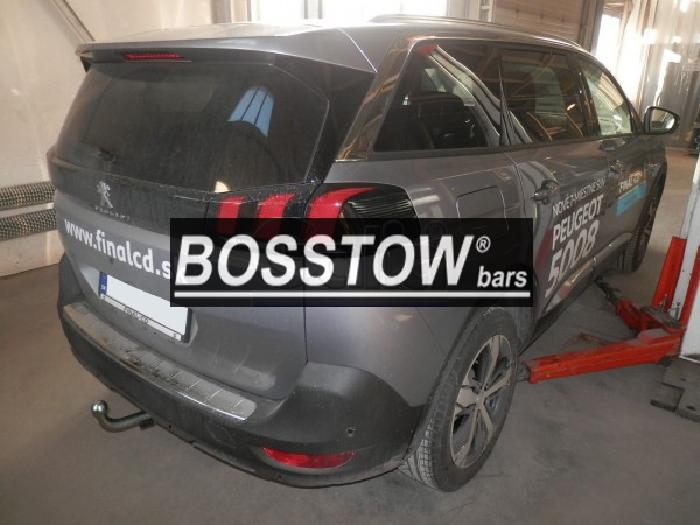 Anhängerkupplung Peugeot-5008 nicht Fzg. mit E- Satz Vorbereitung, f. Fzg. mit Reserverad am Boden, Baureihe 2017- Ausf.:  horizontal