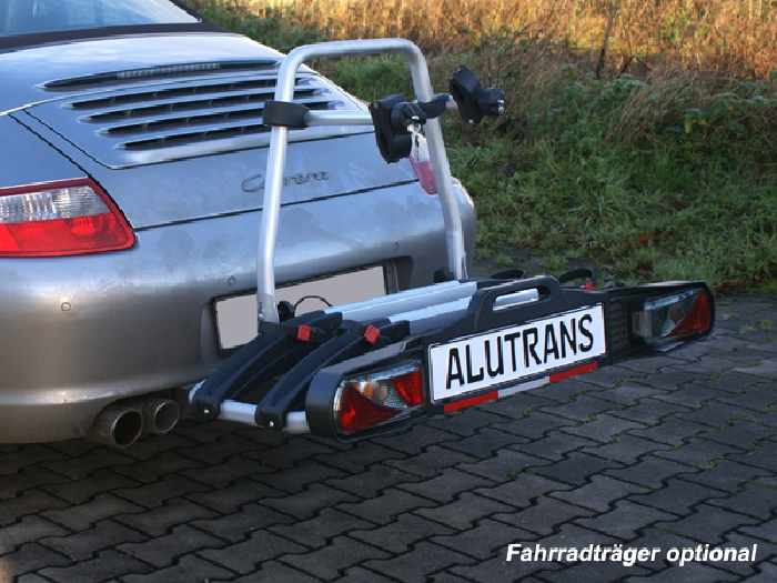 Anhängerkupplung Porsche 911 (997) 997, nicht Fzg. mit einteiligem Endschalldämpfer, nur für Heckträgerbetrieb, Montage nur bei uns im Haus, Baureihe 2003-  vertikal