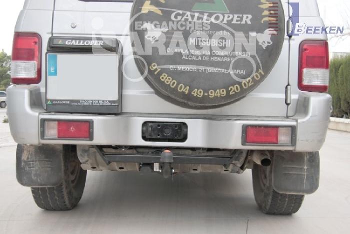 Anhängerkupplung Hyundai Galopper langer Radstand, incl. Exceed, Baureihe 1998-  feststehend