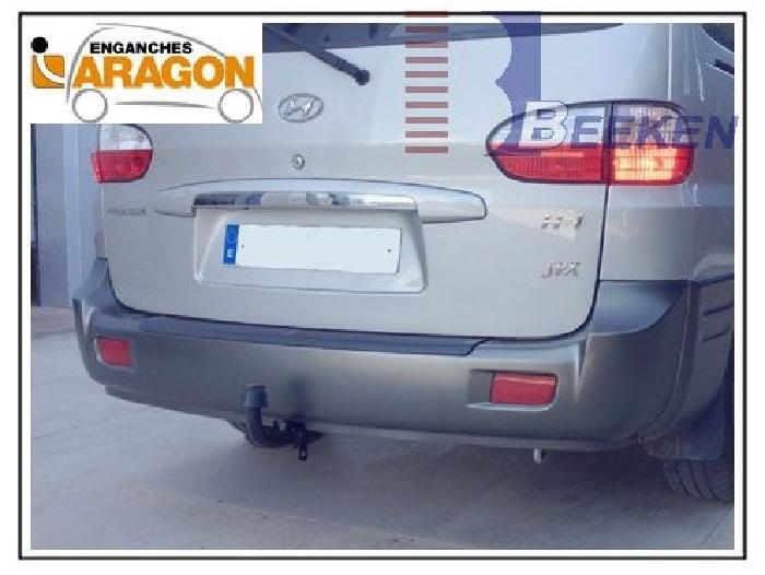 Anhängerkupplung Hyundai-H-1, und Starex (H1) Kastenwagen mit Doppelflügeltür, Baureihe 2000-2002 Ausf.:  feststehend