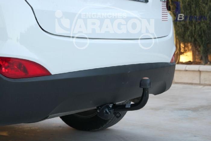 Anhängerkupplung Hyundai-IX35 Geländewagen, Baureihe 2010-2015 Ausf.:  feststehend