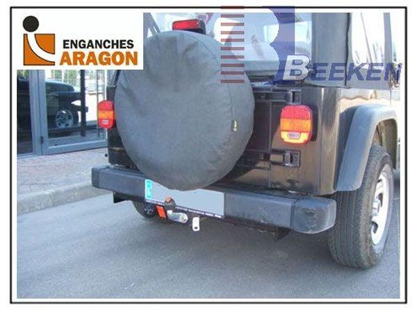 Anhängerkupplung Jeep-Wrangler TJ, Baureihe 1996-1999 Ausf.:  feststehend