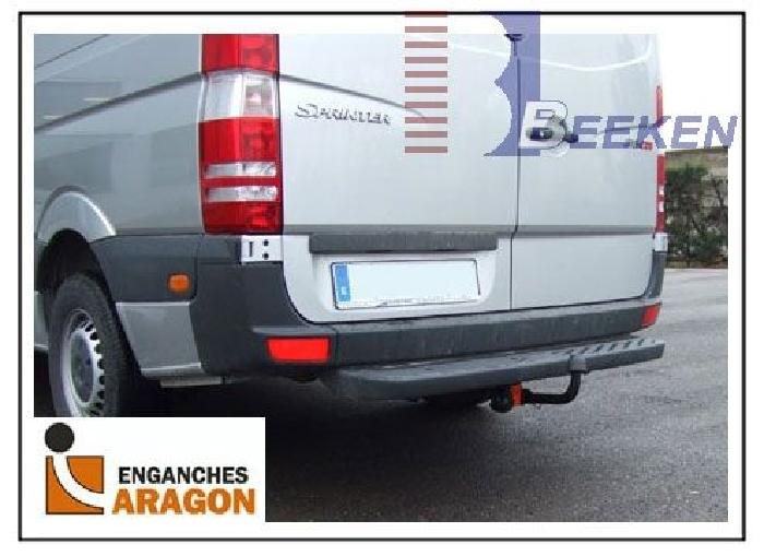 Anhängerkupplung Mercedes Sprinter Kastenwagen Heckantrieb 209-324, Radstd. 3665mm, Fzg. mit Trittbrettst., Baureihe 2006-2018  feststehend