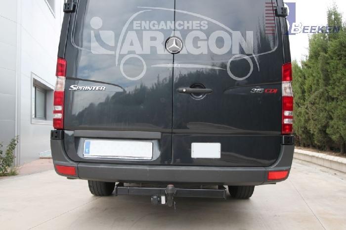 Anhängerkupplung Mercedes Sprinter Kastenwagen Heckantrieb 209-324, Radstd. 3250mm, Fzg. ohne Trittbrettst., Baureihe 2006-2018  feststehend