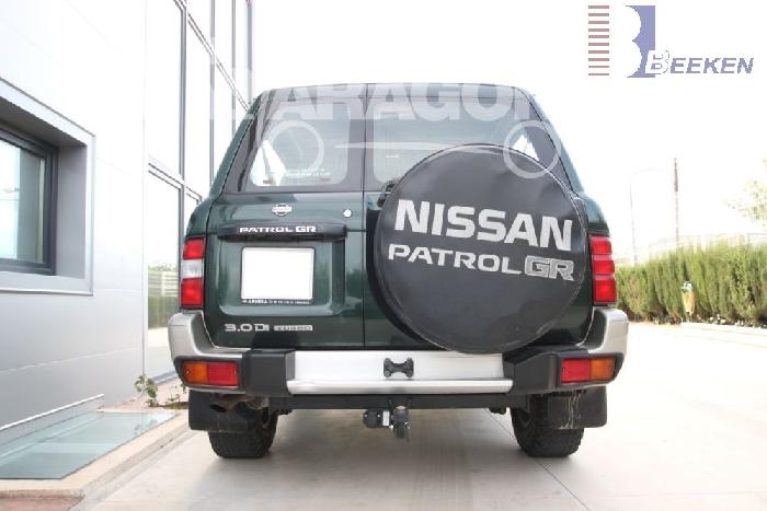 Anhängerkupplung Nissan-Patrol GR, Typ Y 61, Baureihe 1998-2004 Ausf.:  feststehend