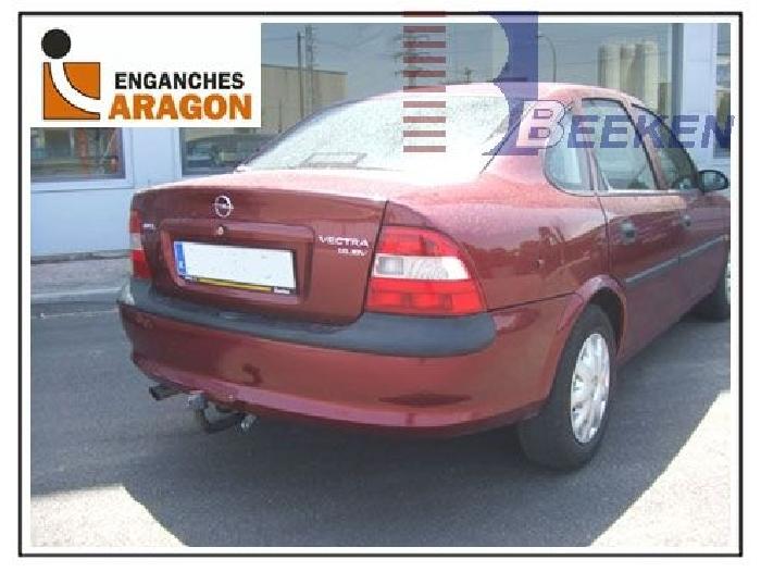 Anhängerkupplung Opel-Vectra B, Fließheck, nicht V6, Baureihe 1998-1999 Ausf.:  feststehend