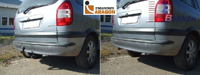 Anhängerkupplung Opel-Zafira A, Van, Baureihe 1998-2005 Ausf.:  vertikal