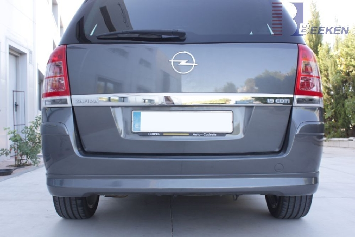 Anhängerkupplung für Opel-Zafira B, Van, CNG- Modelle, Fzg. ohne REC, Baureihe 2005-2015  vertikal