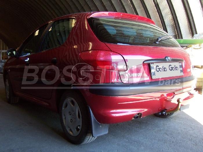 Anhängerkupplung für Peugeot-206 Base, (nicht GTI, GT, XS, 16V, 206CC), Baureihe 1998-2003  feststehend