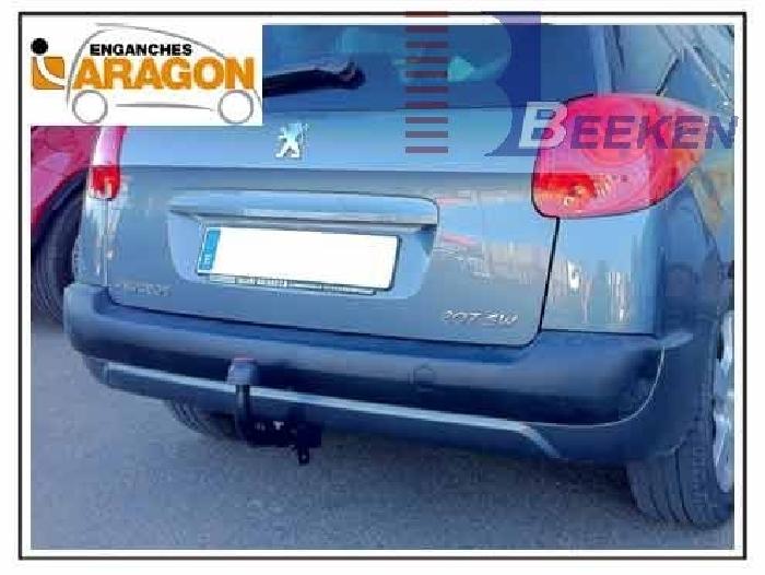 Anhängerkupplung Peugeot-207 SW- Kombi, nicht Outdoor, Baureihe 2007- Ausf.:  feststehend