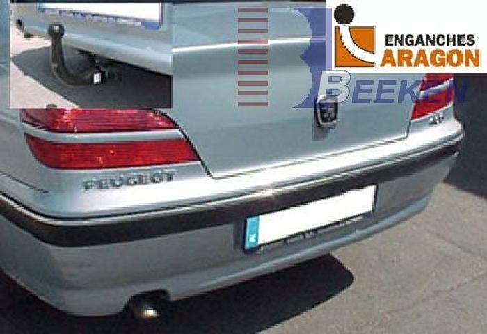 Anhängerkupplung Peugeot-406 Limousine, Baureihe 1995-1999 Ausf.:  vertikal
