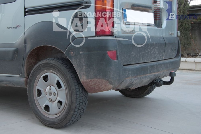 Anhängerkupplung Renault-Kangoo I nur 4x4, Baureihe 2002- Ausf.:  feststehend