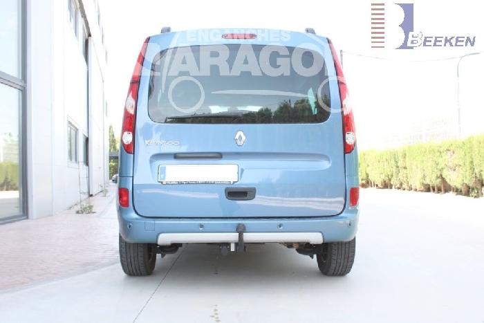 Anhängerkupplung Renault Kangoo II incl. Rapid, Express, Z. E, nicht BeBop u. Compact, Baureihe 2008-2013  feststehend