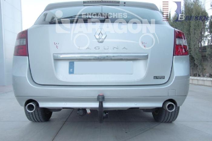 Anhängerkupplung Renault-Laguna Kombi, Grandtour, spez. GT 4 Control, Baureihe 2007- Ausf.:  vertikal