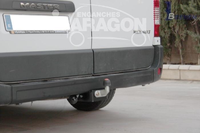 Anhängerkupplung Renault Master Kasten, Bus, Kombi, Frontantrieb, Fzg. mit Elektrosatz Vorbereitung, Baureihe 2010-2014  feststehend