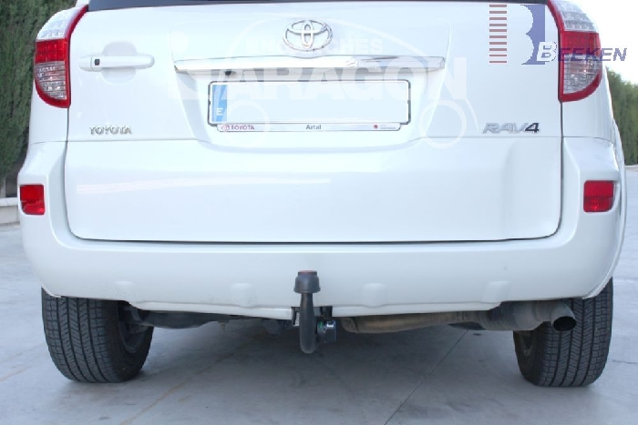 Anhängerkupplung Toyota RAV 4 III (XA3) Fzg. m. Nummernschild an der Hecktür, Baureihe 2006-2008  vertikal