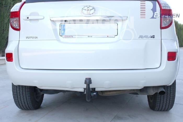 Anhängerkupplung für Toyota-RAV 4 III (XA3) Fzg. m. Nummernschild an der Hecktür, Baureihe 2009-  vertikal