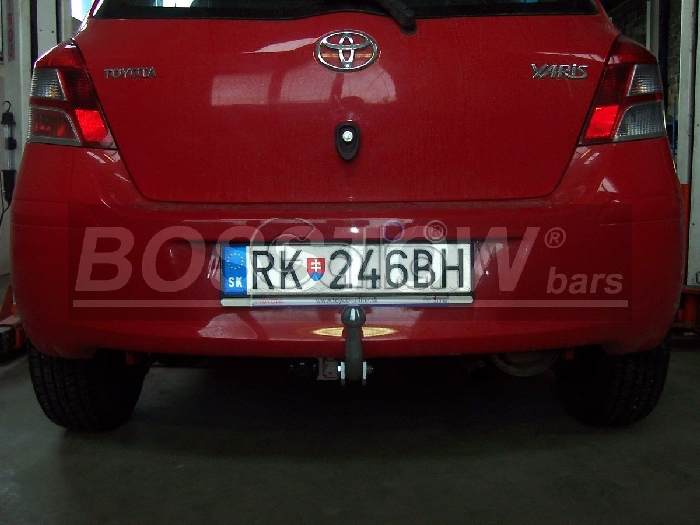 Anhängerkupplung für Toyota-Yaris Fließheck, nicht Hybrid, Baureihe 2009-2011  feststehend