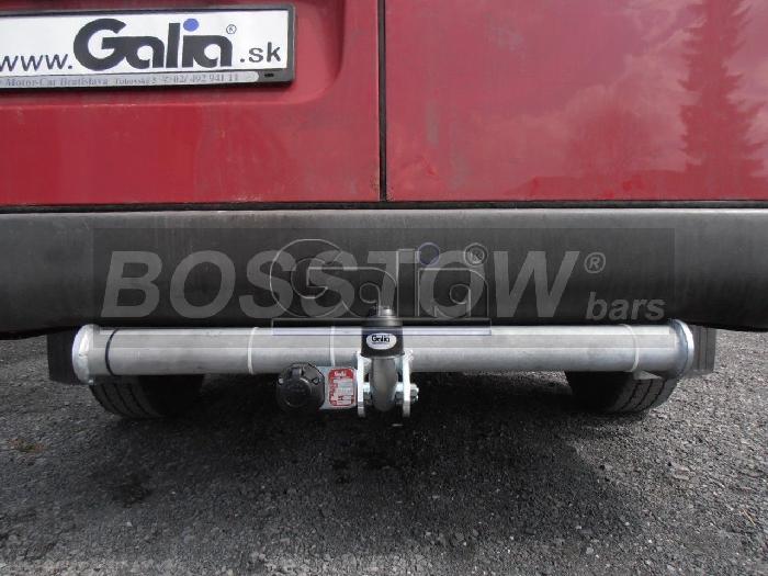 Anhängerkupplung für VW-LT 28-35, Kasten/ Bus, Heckantr. , Radstd. 3,55 m, einzelbereift, ohne Tritt, Baureihe 1995-2006  feststehend