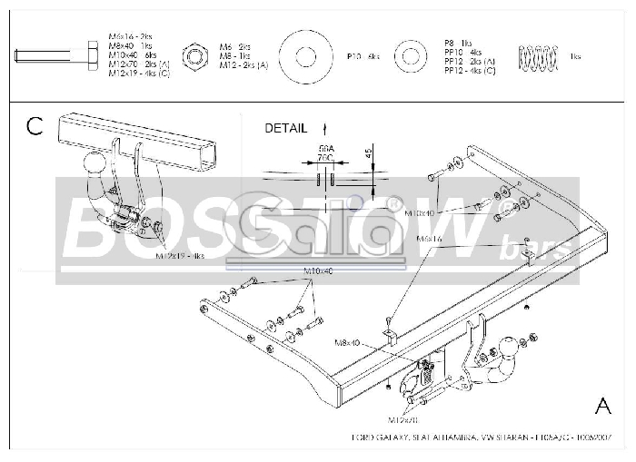 anh ngerkupplung feste f r vw sharan nicht 4x4 fzg ohne parktronic ahk starr 1125334. Black Bedroom Furniture Sets. Home Design Ideas