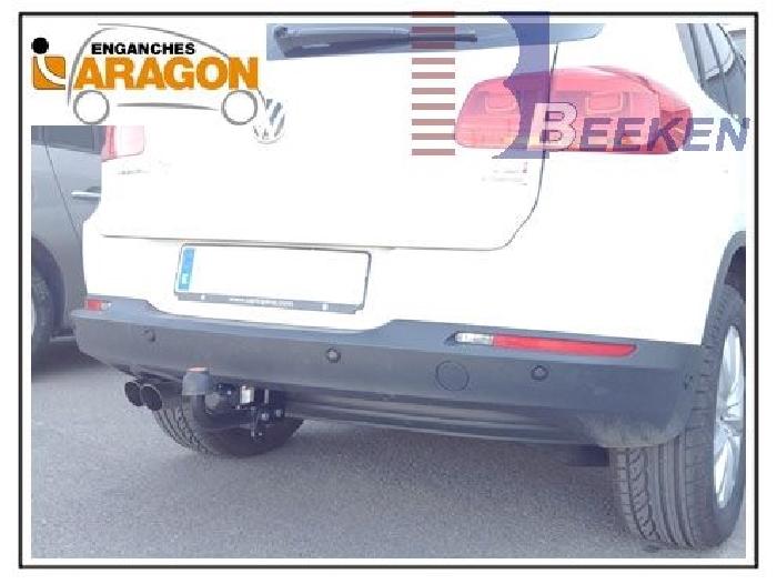 Anhängerkupplung VW-Tiguan, Baureihe 2016-,  Ausf.:  feststehend